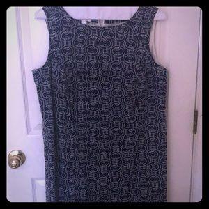 Talbots sleeveless nautical dress 14W